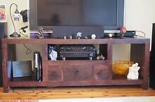 Solid wood TV / Entertainment unit in Chocolate brown colour Gladesville Ryde Area Preview