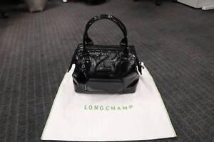 4107fd9e4292 Longchamp Legende Black Patent Leather Handbag