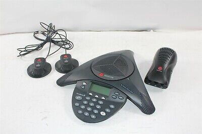 Polycom Soundstation2 Expandable Conf Phone 2201-16200-601 W Mics Wall Module