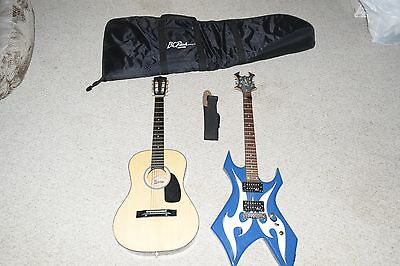 B.C. Rich Warlock electric guitar | with one acoustic guitar and accessories