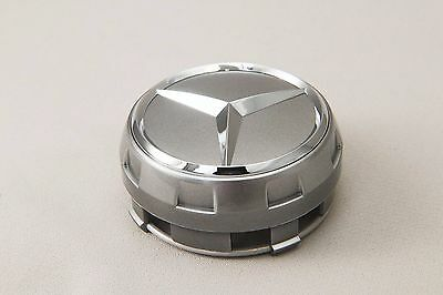 Set of 4 silver Raised Center Wheel Caps For MERCEDES AMG Wheels #AAA