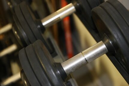 Dumbbells 12.5kg to 37.5kg and rack Richmond Yarra Area Preview