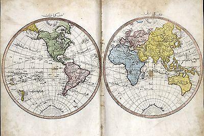 1803 TURKISH ATLAS maps old OTTOMAN empire CEDID ATLAS TERCUMESI  unusual DVD