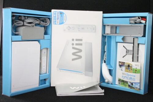 Nintendo Wii  Sports Game System Console [White] Bundle in Box -RVL-001-USA