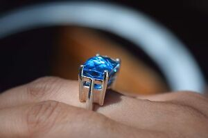 BLUE TOPAZ  sterling Silver RING Richmond Yarra Area Preview
