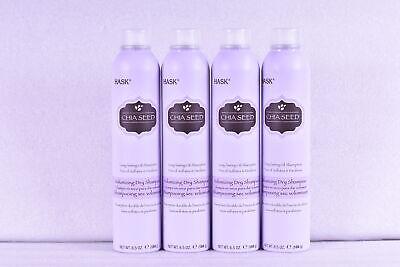 LOT OF 4 Hask Chia Seed Long Lasting Volumizing Dry Shampoo, 6.5 oz