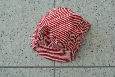 Mamas and Papas White and Red Stripe Bucket Reversible Cotton Sun Hat 6-9 M