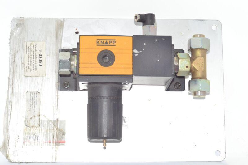 Knapp 100350 AIR PRESSURE REGULATOR control valve plate pneumatic Pressure Plate