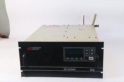 Advanced Energy Rfpp 3150001-012 Rf-20swc 30 Se-037 Generator 2000 Watt 13.56mhz