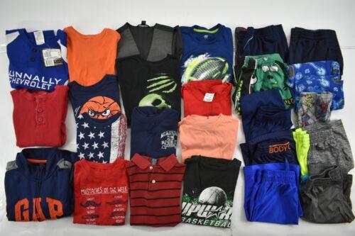 Wholesale Lot of 25 Youth Boys Small 6/7 Mixed Seasons Shirts Tops & Bottoms
