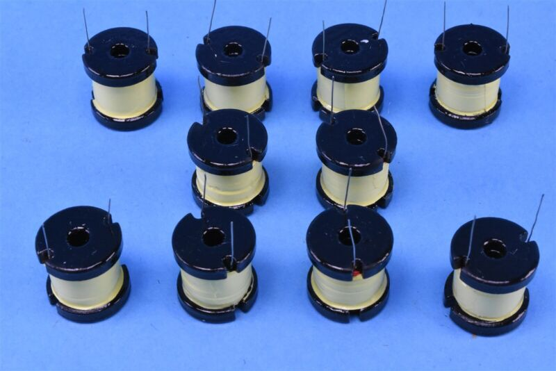 10 Vitec 1.8mH Bobbin RF Choke Coil Inductors 20mm x 18.5mm P/N: 51P5355