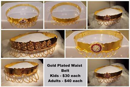 Bangles, Hair Extensions and Gold Plated Waist Belts