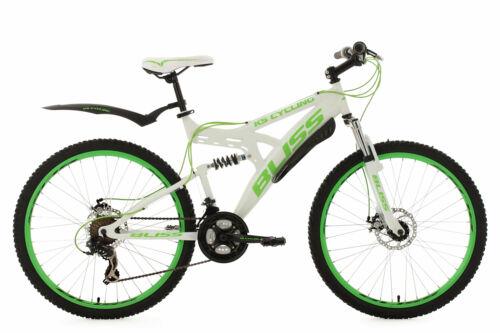 Mountainbike Fully 26 Zoll 21-Gang Bliss Weiß-Grün MTB vollgefedert 535M