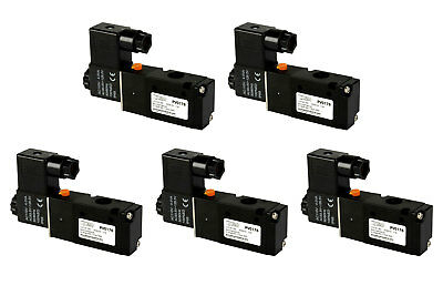 5x 110v Ac Solenoid Air Pneumatic Control Valve 3 Port 3 Way 2 Position 14 Npt