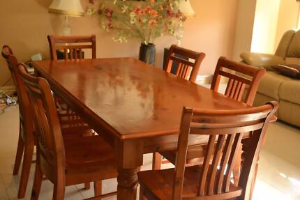 solid wood vintage table and 5 chairs dining tables gumtree australia port phillip balaclava