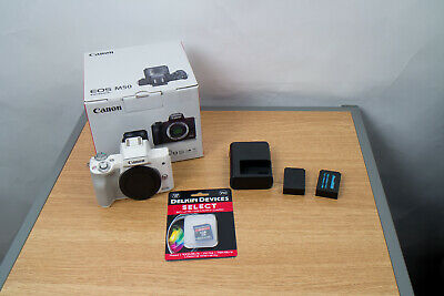 Canon EOS M50 24.2MP Mirrorless Camera Body with Sandisk 128GB SD - Mint!