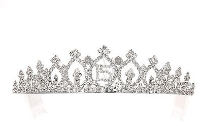 Quinceanera 15 Birthday Party Pageant Rhinestone Crystal Crown Tiara 8942 - Tiara Birthday