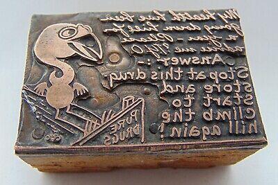 Vintage Printing Letterpress Printers Block Drug Store Birds