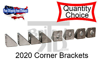2020 Corner Bracket 20x20mm Aluminum Angle L Connector T Slot Extrusion Cnc