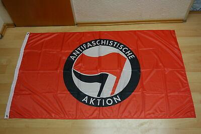 Fahne rot Motiv Antifaschistische Aktion (klassisch) 90x150 cm