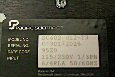 Pacific Scientific Model Sc402-012-t3 Servo Controller Used