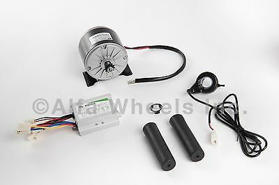 350w 24v Dc Electric Motor 1016 Kit W Speed Controller Thumb Throttle