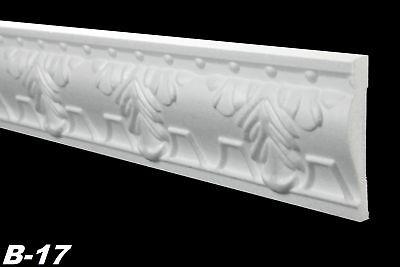 20 Meter Wandleisten Styroporleisten Leisten Zierleisten Dekor 17x75mm, B-17