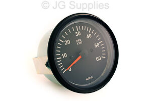 tachometer rev counter 0 6000 rpm 85mm alternator driven. Black Bedroom Furniture Sets. Home Design Ideas