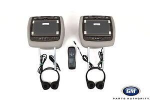 13-15 Traverse Acadia Headrest DVD Player Package 23109019 Titanium Leather OEM