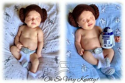 ia Inspired Baby Costume/ Crochet Princess Leia Photo PropDC (Leia Baby-kostüm)