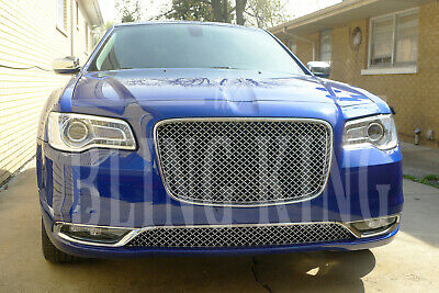 2015-2019 Chrysler 300 Chrome Mesh Grill Upper and Lower Bentley Grille -