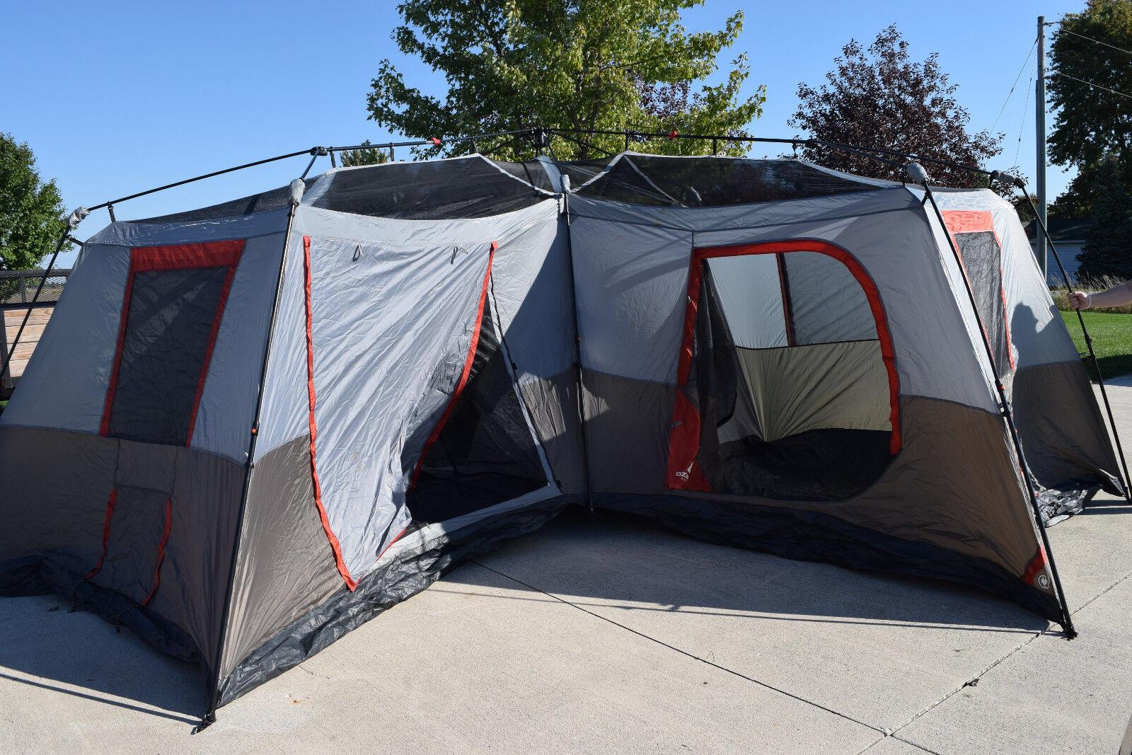 Ozark 16 X 16 Cabin Tent & Ozark Trail 16x16 Instant Cabin