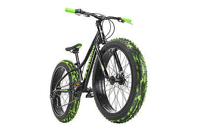 Fatbike 24'' Mountain Bike Kinder Crusher 6217 Schwarz RH 30 cm KS...