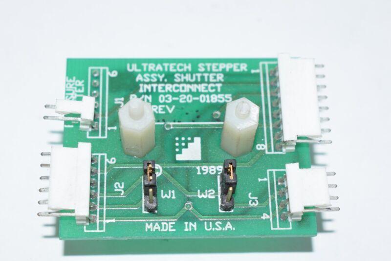 Ultratech Stepper 03-20-01855 SHUTTER INTERCONNECT, ASSY PCB Module