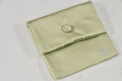 "VCA VAN CLEEF & ARPELS Silk Satin Medium Travel Pouch 4"" x 3.75"" For Bracelet"