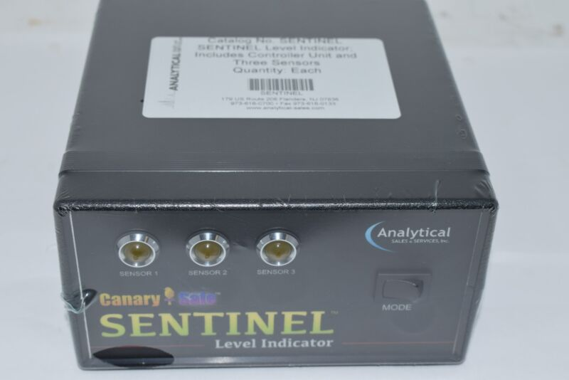 NEW Canary-Safe Sentinel Solvent Safety Alarm System, Level Indicator