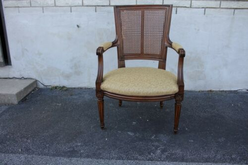 French Louis XVI Beechwood Office Chair, Armchair, New Upholstery