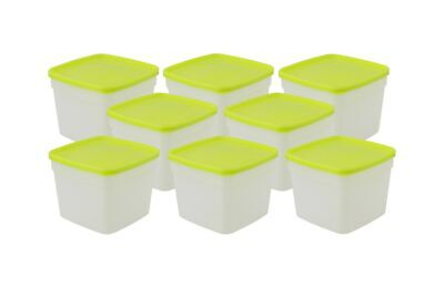 Arrow Plastic Stor-Keeper Freezer Storage Containers - 1.5 Pint Set Of 8 Cont... - Stor-keeper