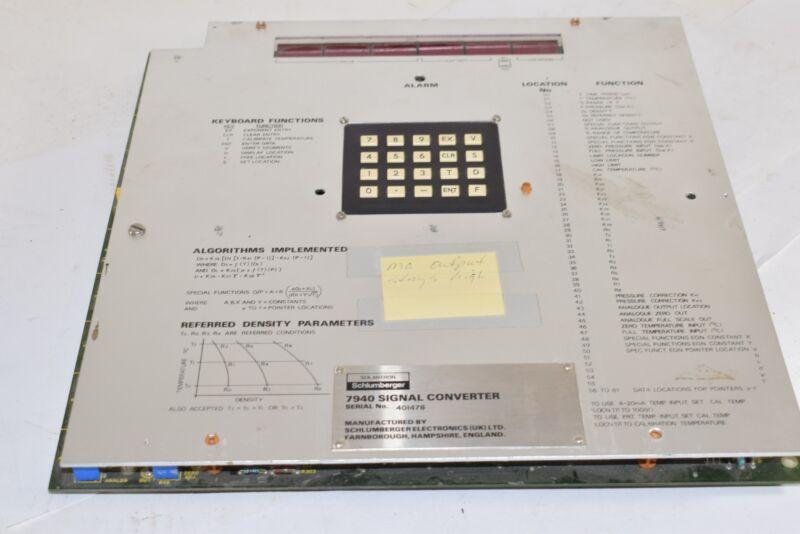 Solartron Schlumberger Signal Converter 7940 Serial No. 401478
