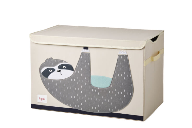 3 Sprouts Kids Toy Chest - Storage Trunk for Boys and Girls Room, Sloth