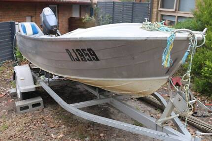 Kestrel Savage 13ft Tinnie Boat, Yamaha 25HP Motor & Accessories
