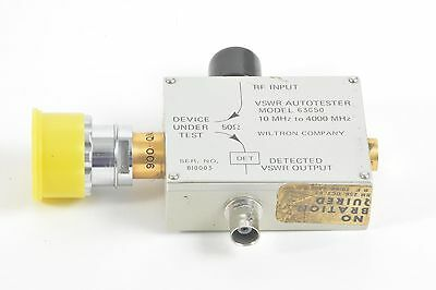 Wiltron Vswr Swr Autotester Model 63g50 10 Mhz To 4000 Mhz W Case