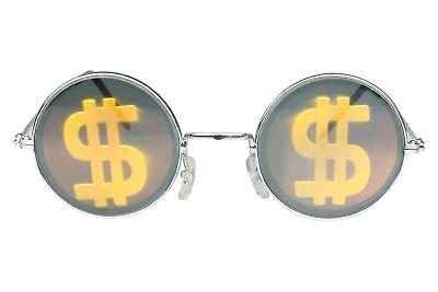 Novelty Sunglasses Party Glasses Round Hologram Shades Holographic Money Orange](Holographic Sunglasses)
