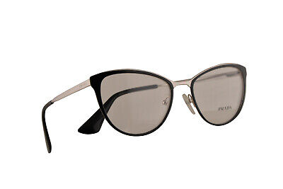 Prada PR55TV Eyeglasses 52-18-140 Black Silver w/Demo Lens 1AB1O1 VPR (Prada Pr 55t)