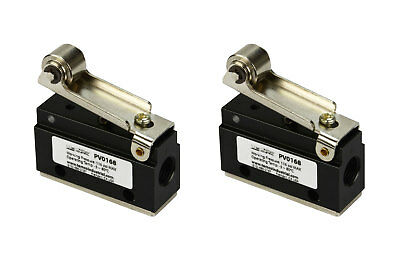 2x Roller Limit Switch Pneumatic Control Valve 2 Port 2 Way 2 Position 18 Npt