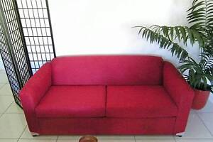 BRAND NEW RED QUEEN SIZE SOFA BED with SCOTCH GARD $399 Ingham Hinchinbrook Area Preview