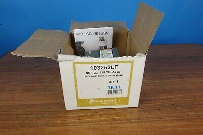 Bell Fossett Nbf-22 103252lf Circulator Pump Mini Pump- New In Box