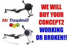 "CONCEPT2 ROWER >>>>>  WE WILL BUY ""WORKING OR BROKEN"" Hendra Brisbane North East Preview"