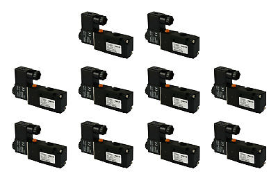 10x 24v Ac Solenoid Air Pneumatic Control Valve 3 Port 3 Way 2 Position 14 Npt