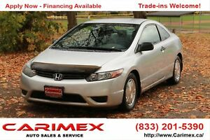 2008 Honda Civic DX-G ONLY 71K | CERTIFIED